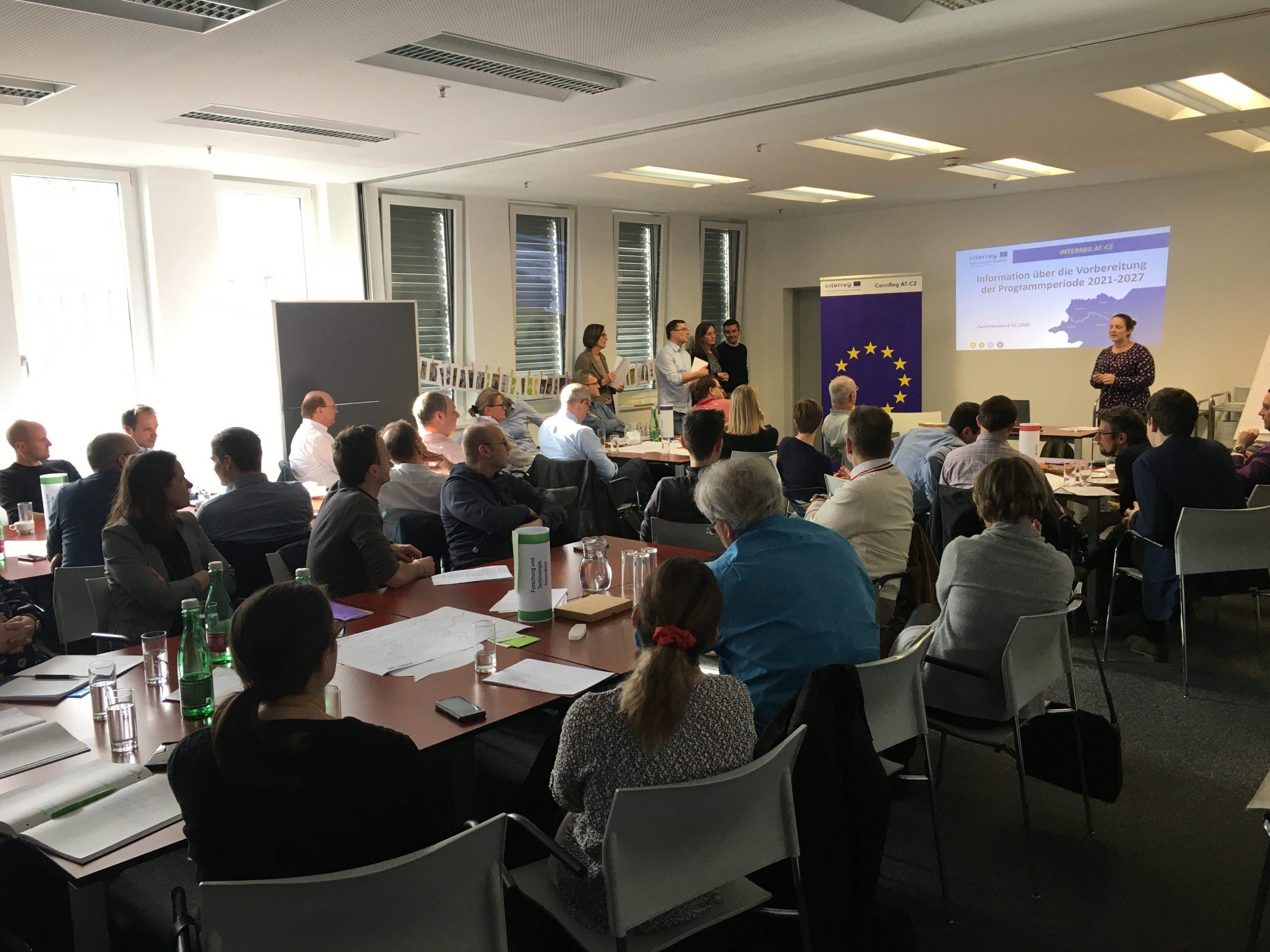 INTERREG AT-CZ Workshop in Linz – Erhebung von Projekten mit den AkteurInnen für die Programmperiode 2021-2027 © RMOÖ