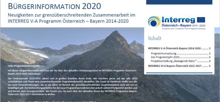 Aktuelles aus dem Programm INTERREG Österreich-Bayern